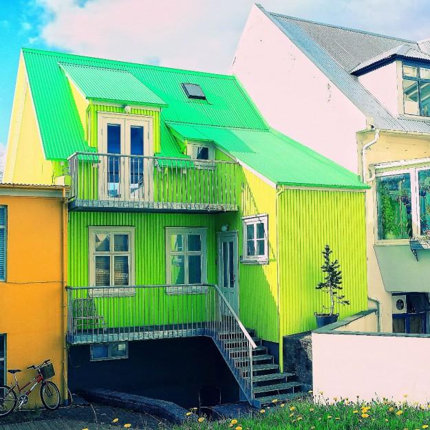 Разноцветный дом в Рейкьявике