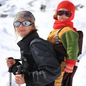 Люся и Амелия в горах