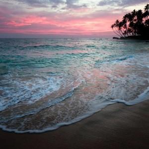 закат на побережье Шри-Ланки