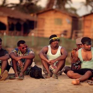 индийцы на пляже Арамболя