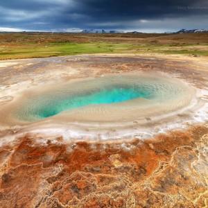 3D фото геотермального озера в Исландии 3D. Фото Люси Мараткановой