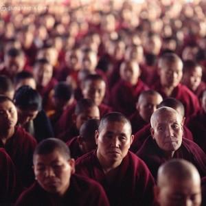 Тибетские монахи на учениях Далай Ламы XIV. Фото Люся Маратканова