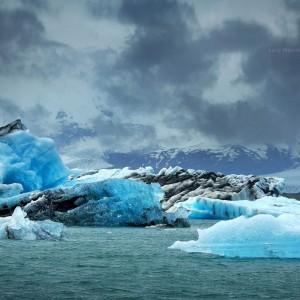 3D фото льдов ледниковой лагуны Йокульсарлона 3D. Фото Люси Мараткановой