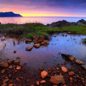 Скаланес на закате в Исландии 3D. Фото Люси Мараткановой