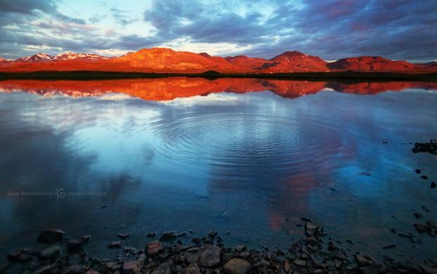 3D фото исландского озера. Фото Люся Маратканова