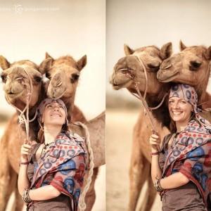 Люся Маратканова погонщица верблюдов. Фото Люся Маратканова
