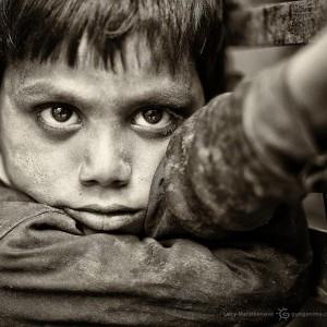 young indian boy in delhi