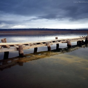 pier on lake in iceland