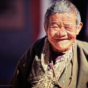старый тибетский паломник