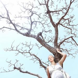 беременная русская женщина в гоа в индии