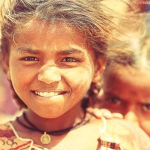 children in thar desert in india