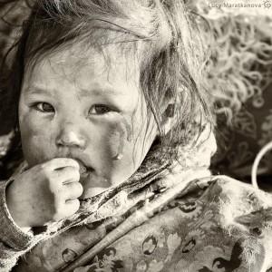 маленький ребенок в тибете