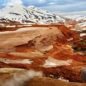 valleys in the mountains of iceland