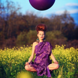 phantasy photo of levitating woman by Lucy Maratkanova