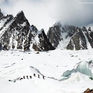 trek to basic camp of k2 mountain in pakistan