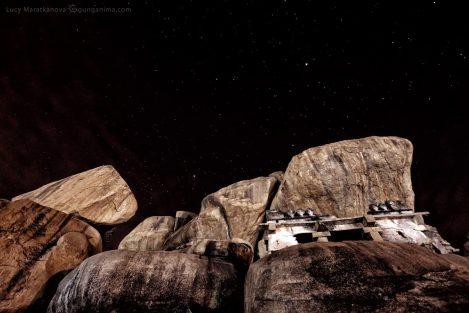 Ночное звездное небо в Хампи. Фото Люси Мараткановой.