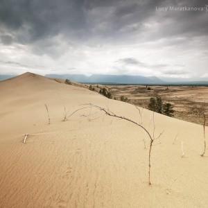 desert in baikal in russia