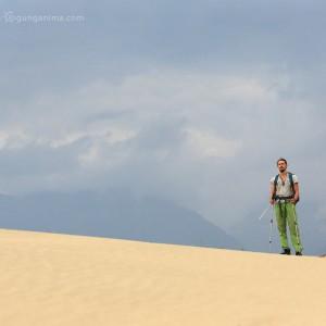 trekking to desert in russia