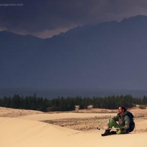 trekking to russian deser in baikal in russia