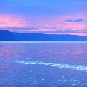 baikal lake at sunset