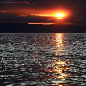 leaden baikal lake in russia