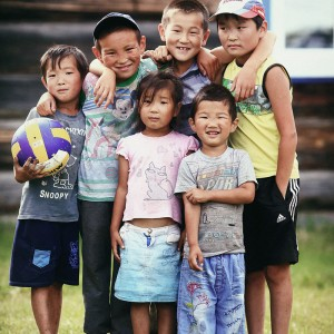 country children in buryatia