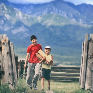 дети в деревне в бурятии в россии