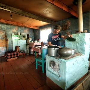 русская печь в частном доме в россии