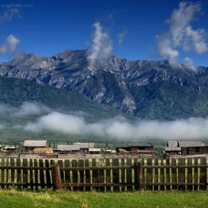 tunka valley in the morning