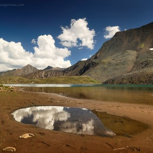 lake of mountain spirits in russia in baikal