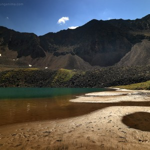 lake of mountain spirits in russia