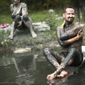 mud baths in baikal in russia