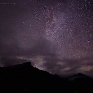 ночное звездное небо над забайкальем в россии