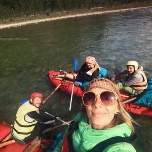селфи на сплаве по реке китой в забайкалье в россии