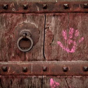 hand signature on door in india