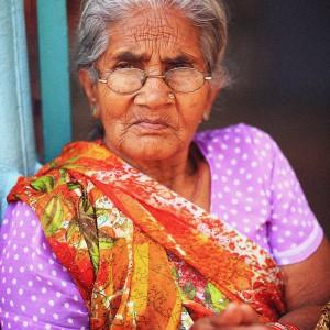 old woman in varanasi in pakistan