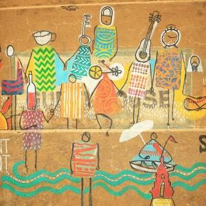 grafiti on varanasi walls in india