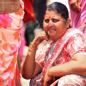 big woman in varanasi in india