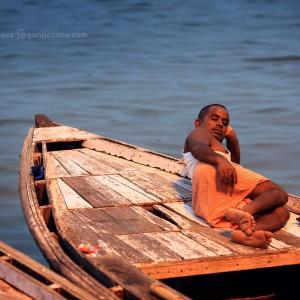 boatman in varanasi in india