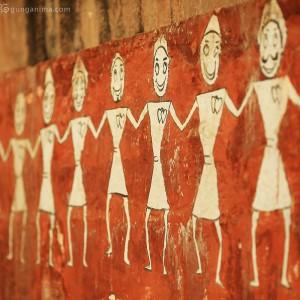 wall in varanasi in india