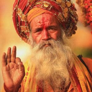 saint sadhu in varanasi in india