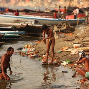 gang river in varanasi in india