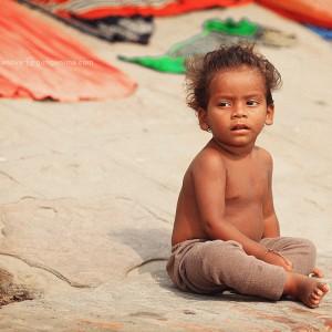 boy in varanasi in india