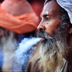 saint men in varanasi in india
