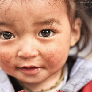 eyes of chilcdren in nepal