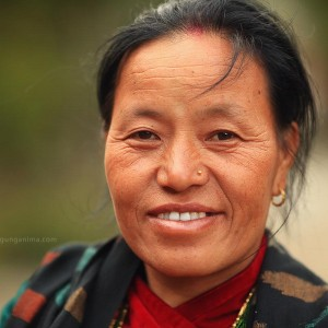 portrait of nepali woman