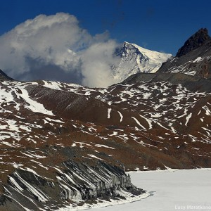 landscapes near tilicho lake in nepal