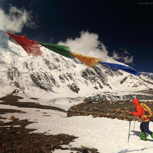 Trekking to the mountains in nepal
