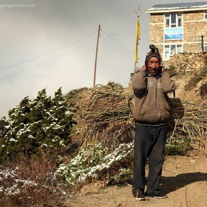 man with brushwood in nepal