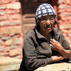 old woman in nepal